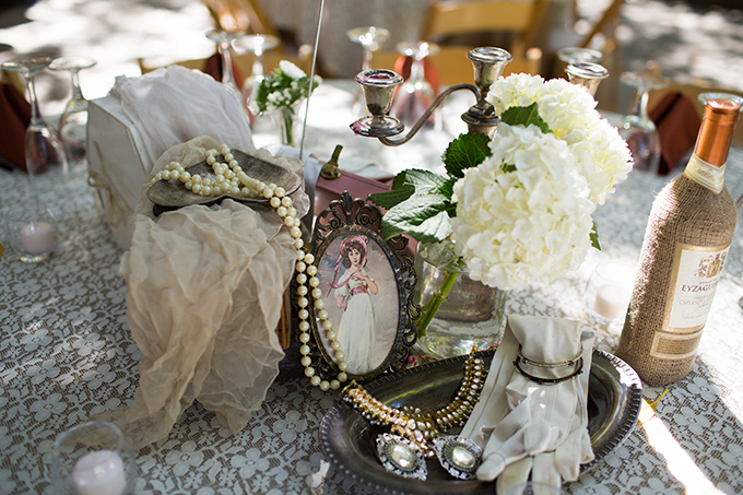 vintage cluster centerpieces | Driver Photo