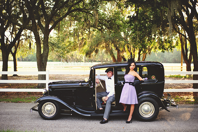 vintage Florida engagement | Jason Mize