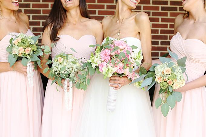 blush bridesmaids | j.woodbery photography