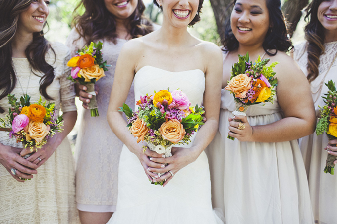 orange and pink bouquets | Sarah Kathleen