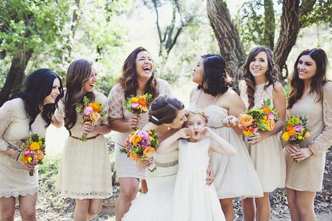 mis-matched bridesmaids | Sarah Kathleen
