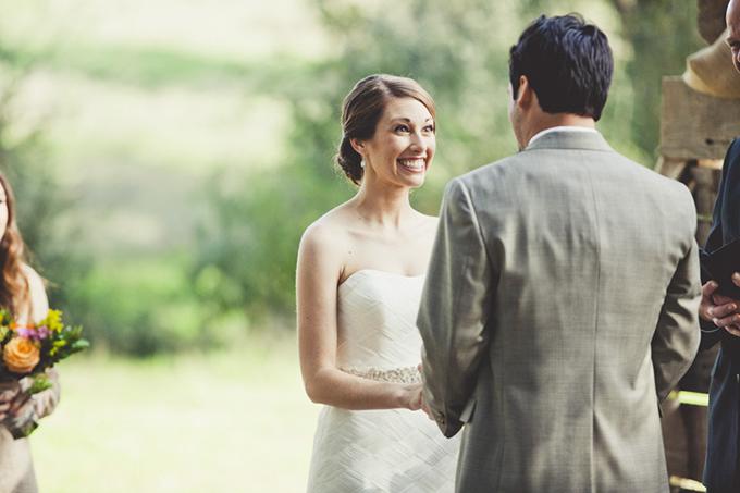 intimate rustic orange wedding | Sarah Kathleen