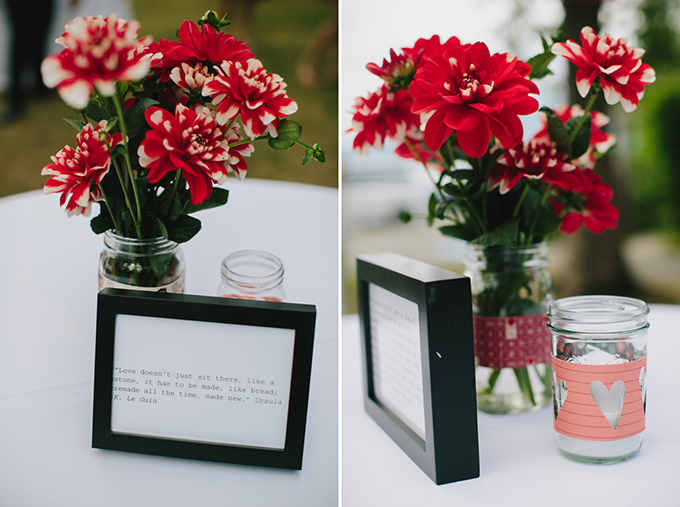 love quote centerpieces | Jamie Delaine Photography