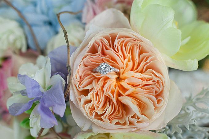peach peony ring shot | Sarah Becker Photography