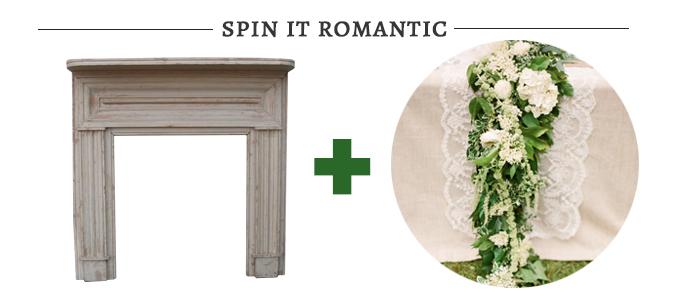 romantic fireplace altar | Glamour & Grace