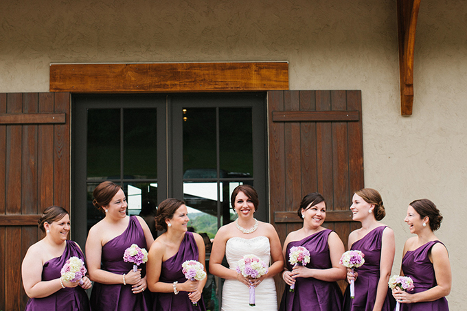 purple bridesmaids | Carretto Studio Photography