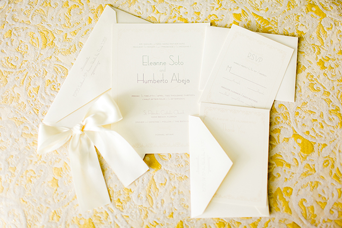 white letterpress invitation | Elaine Palladino Photography