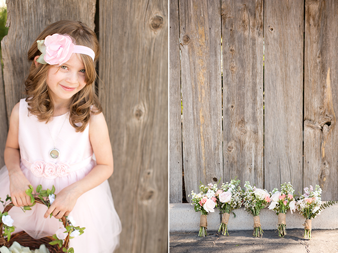pink flower girl | Amy & Jordan Photography