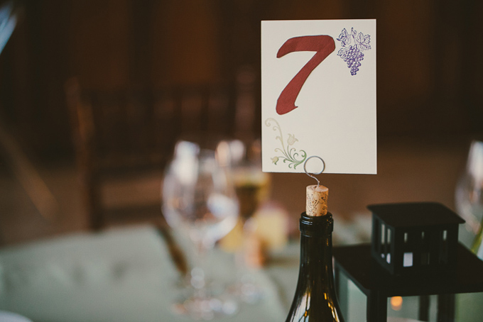 wine bottle table number | Hom Photography