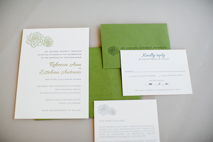 succulent invitation | Orbie Pullen Photography