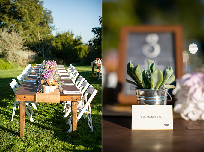 succulent place cards | Orbie Pullen Photography
