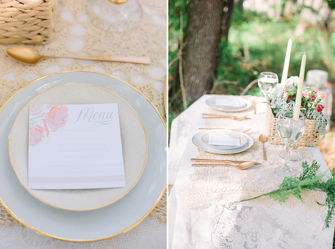 blush and gold place setting | Erica J Photography