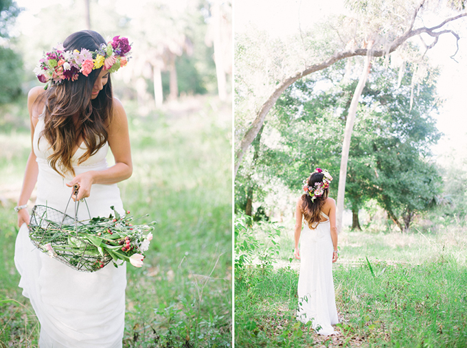 floral crown | Erica J Photography
