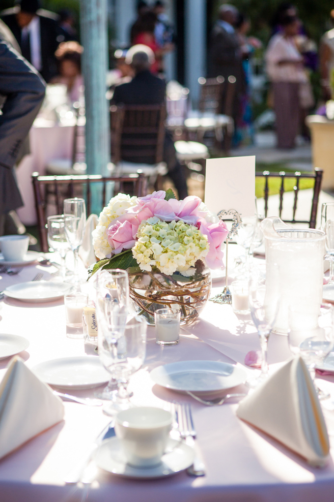 pink centerpieces | George Street Photo