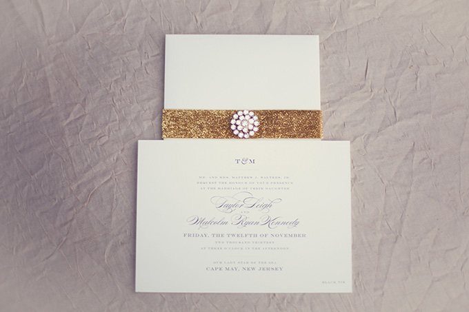 elegant invitation | Christine Sara Photography | Glamour & Grace