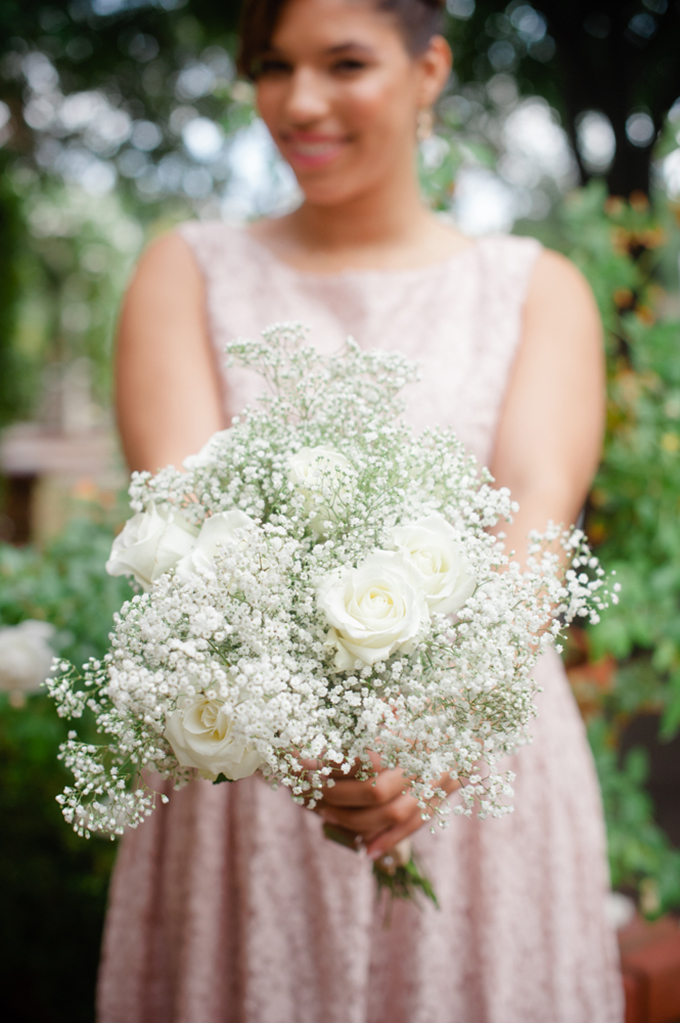 baby breath bouquet | Marcella Treybig Photography | Glamour & Grace