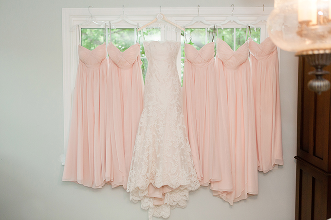 blush bridesmaid dresses | Clewell Photography | Glamour & Grace