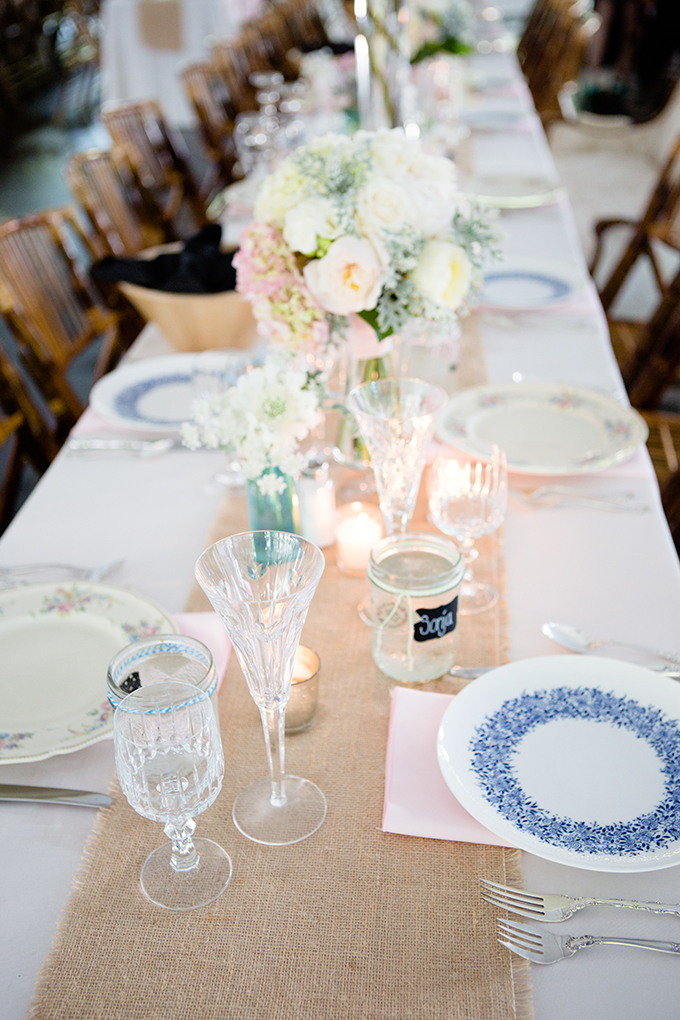 vintage pink centerpieces | Clewell Photography | Glamour & Grace