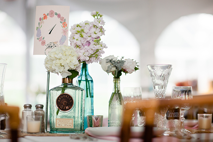 eclectic vintage centerpieces | Clewell Photography | Glamour & Grace