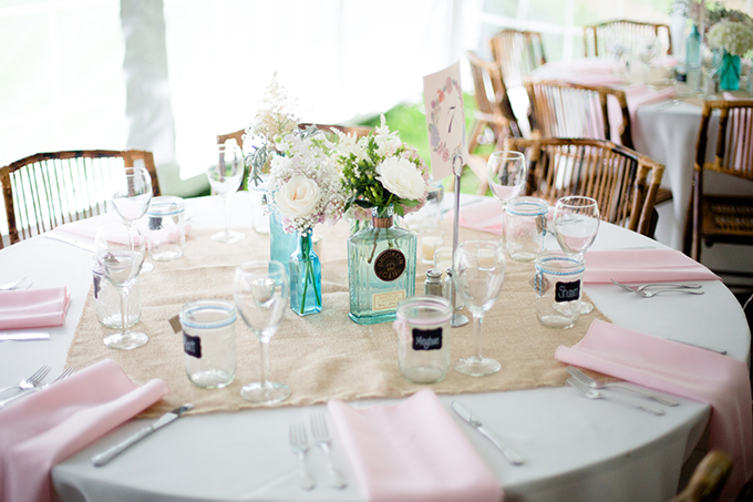 rustic vintage centerpieces | Clewell Photography | Glamour & Grace