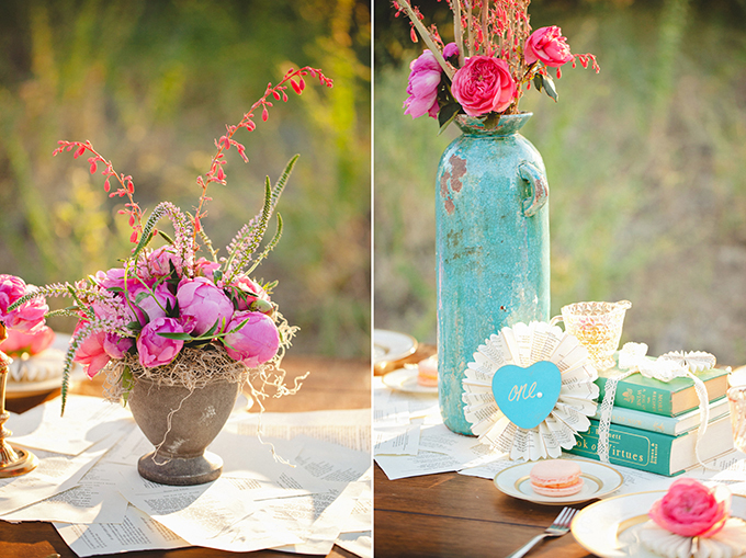 romantic pink and turquoise wedding inspiration | Denise Nicole Photography | Glamour & Grace