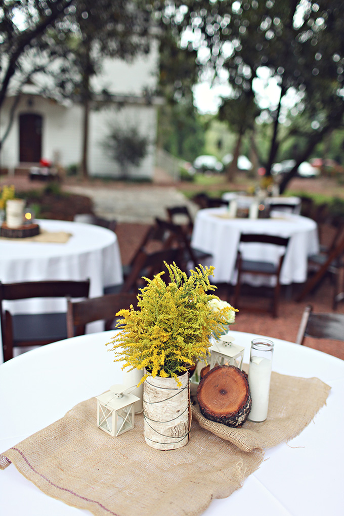 rustic DIY centerpieces | j.woodberry photography | Glamour & Grace