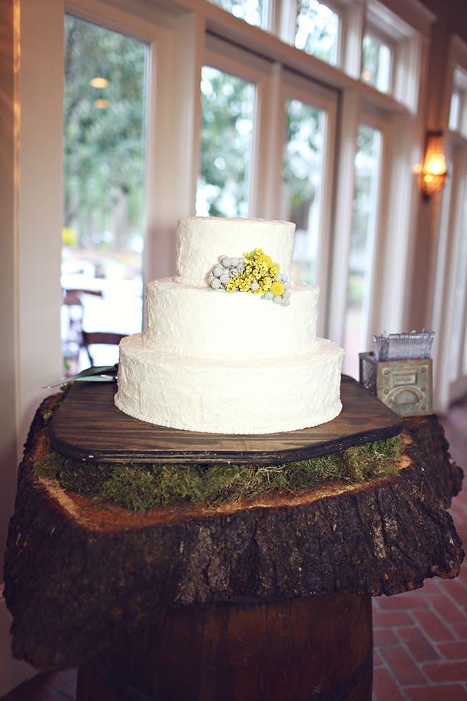 yellow and gray cake | j.woodberry photography | Glamour & Grace
