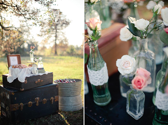 pink vintage wedding inspiration | Greer G Photography | Glamour & Grace