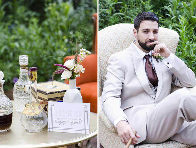 cigar bar | Green Blossom Photography | Glamour & Grace