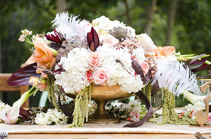 rustic vintage fall centerpiece | Green Blossom Photography | Glamour & Grace