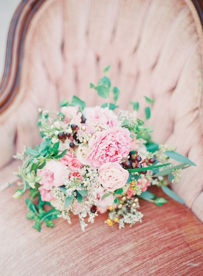 romantic peony bouquet by Taylormade Floral and Event Design | Michelle March | Glamour & Grace