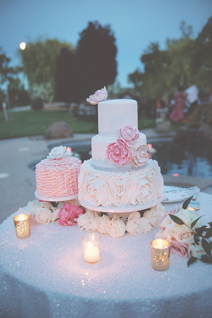 pink peony cake by Sugar & Spice Specialty Desserts | Emily Heizer Photography | Glamour & Grace