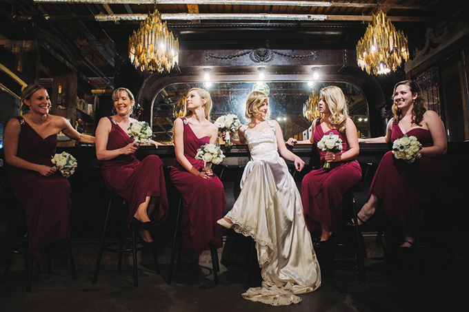 burgundy bridesmaids | Two Birds Photography | Glamour & Grace