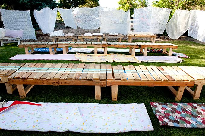 vintage tablecloth backdrop | Ellen Jaskol | Glamour & Grace