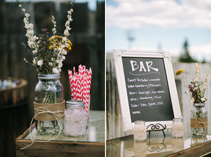rustic wedding bar | Joe+Kathrina | Glamour & Grace