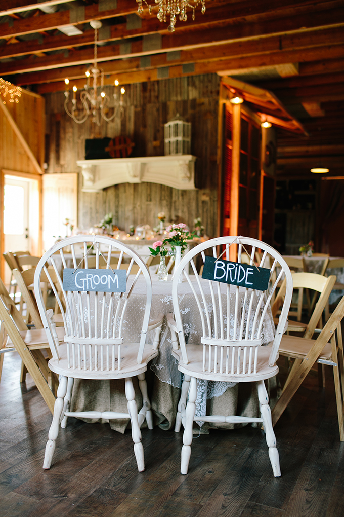bride and groom chair signs | Amanda Watson Photography | Glamour & Grace