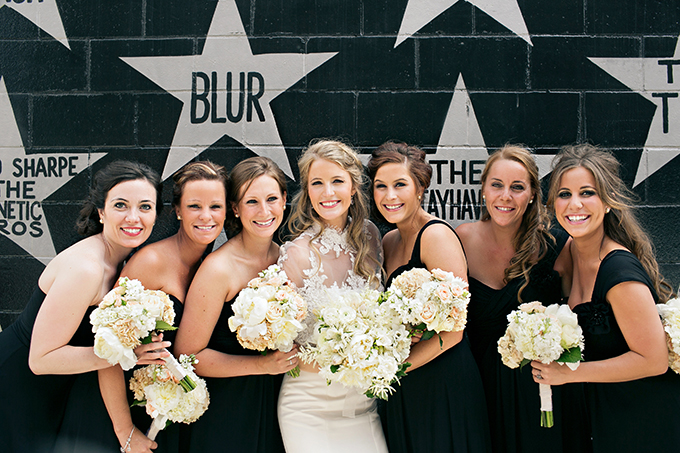 black bridesmaid dresses | Erin Johnson Photography | Glamour & Grace