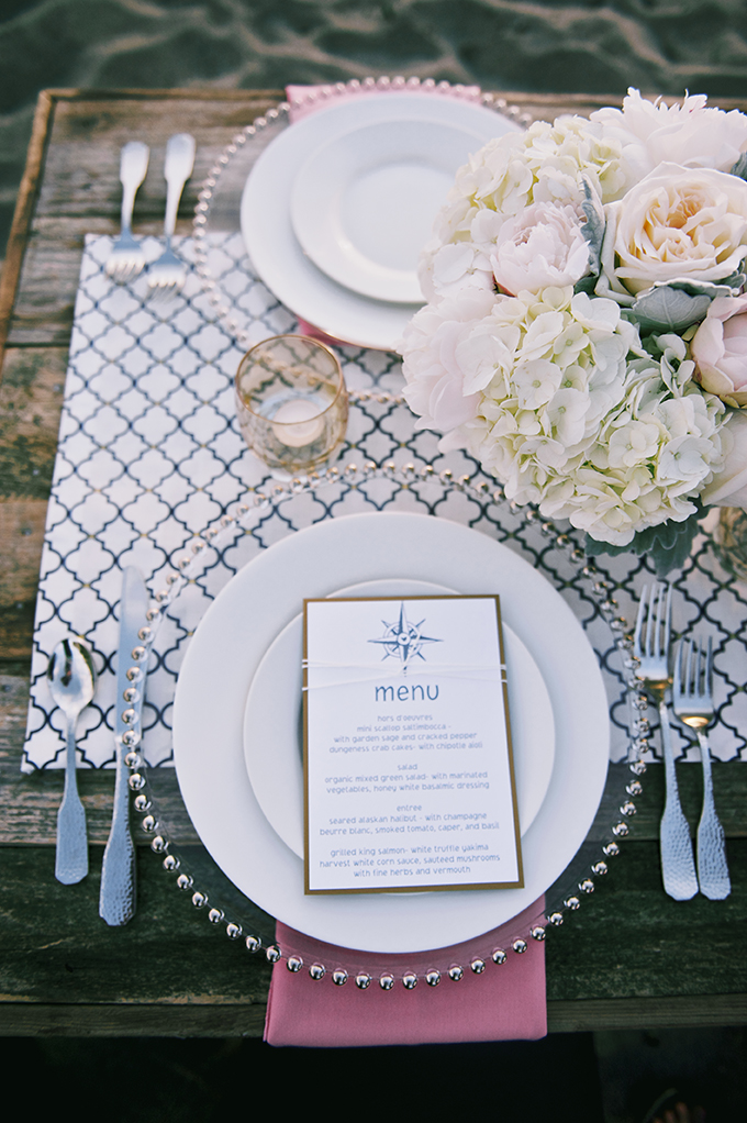 nautical place setting | Simply Sonja Photography | Glamour & Grace