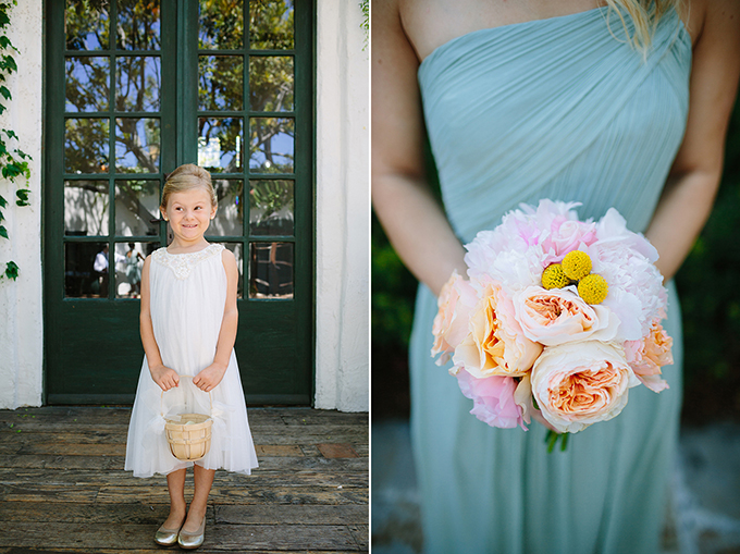 adorable flower girl and peony bridesmaid bouquet | Snapmotive | Glamour & Grace