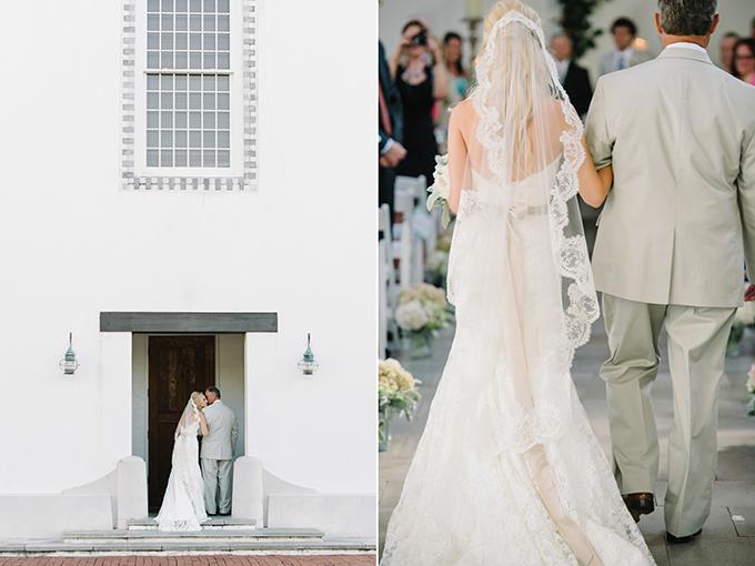 dad escorting down the aisle | dear wesleyann | Glamour & Grace