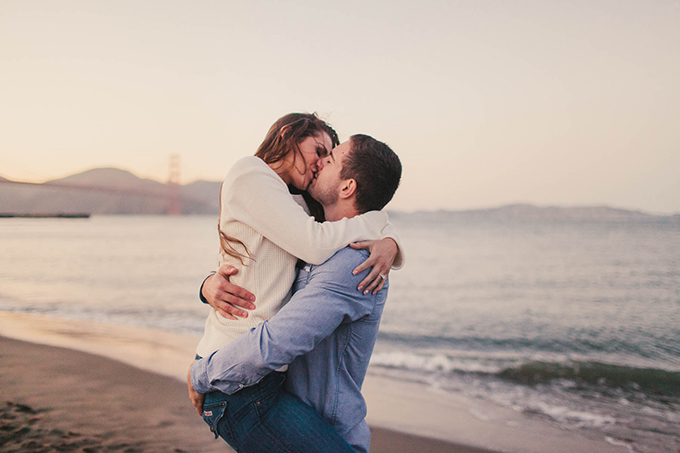 San Francisco sunset engagement | Courtney Stockton Photography | Glamour & Grace