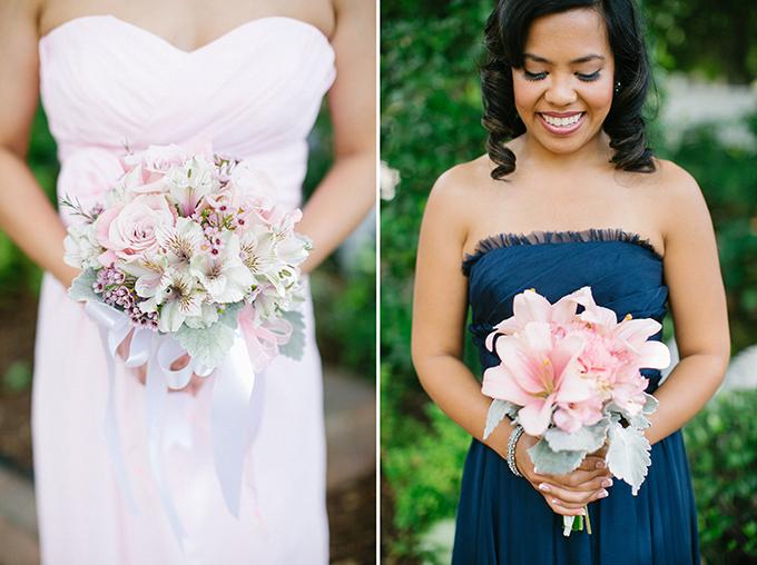pink bridesmaid bouquets | Kimberly Chau Photography | Glamour & Grace