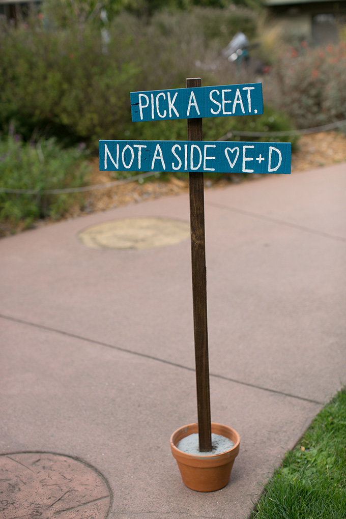 pick a seat not a side | Diana McGregor Photography | Glamour & Grace