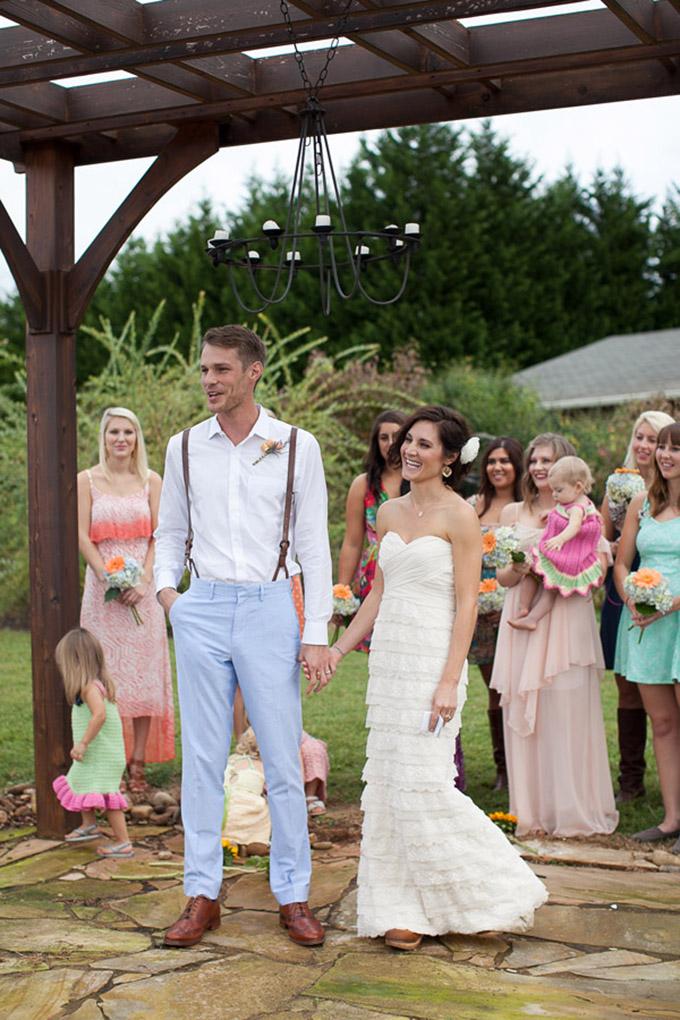 intimate handmade backyard wedding | Katherine Stinnett Photography | Glamour & Grace