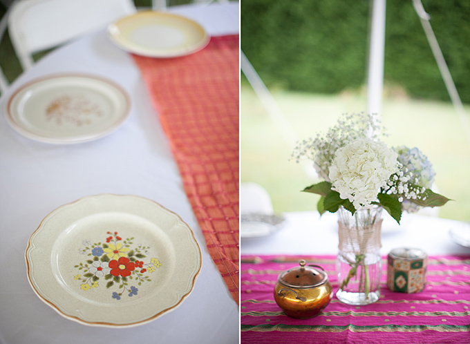 vintage plates and eclectic centerpieces | Katherine Stinnett Photography | Glamour & Grace