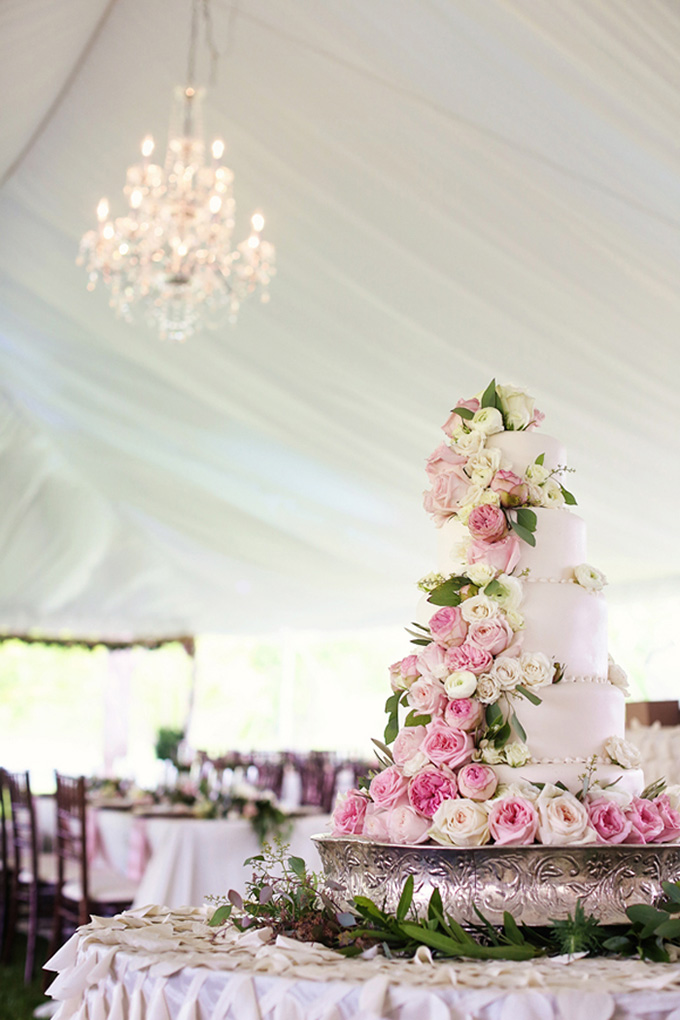 pink rose cake   KaBloom Studios   Glamour & Grace