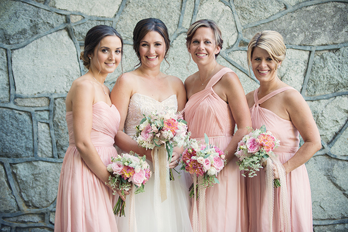 blush bridesmaids from J.Crew | Melissa Gidney Photography | Glamour & Grace