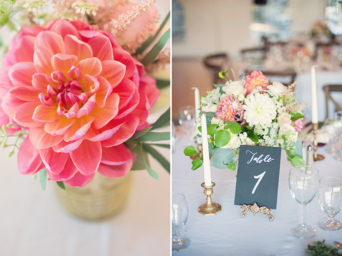 romantic pink centerpieces | Melissa Gidney Photography | Glamour & Grace