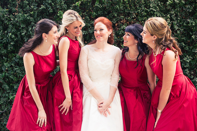 red bridesmaids | Love Light Images | Glamour & Grace