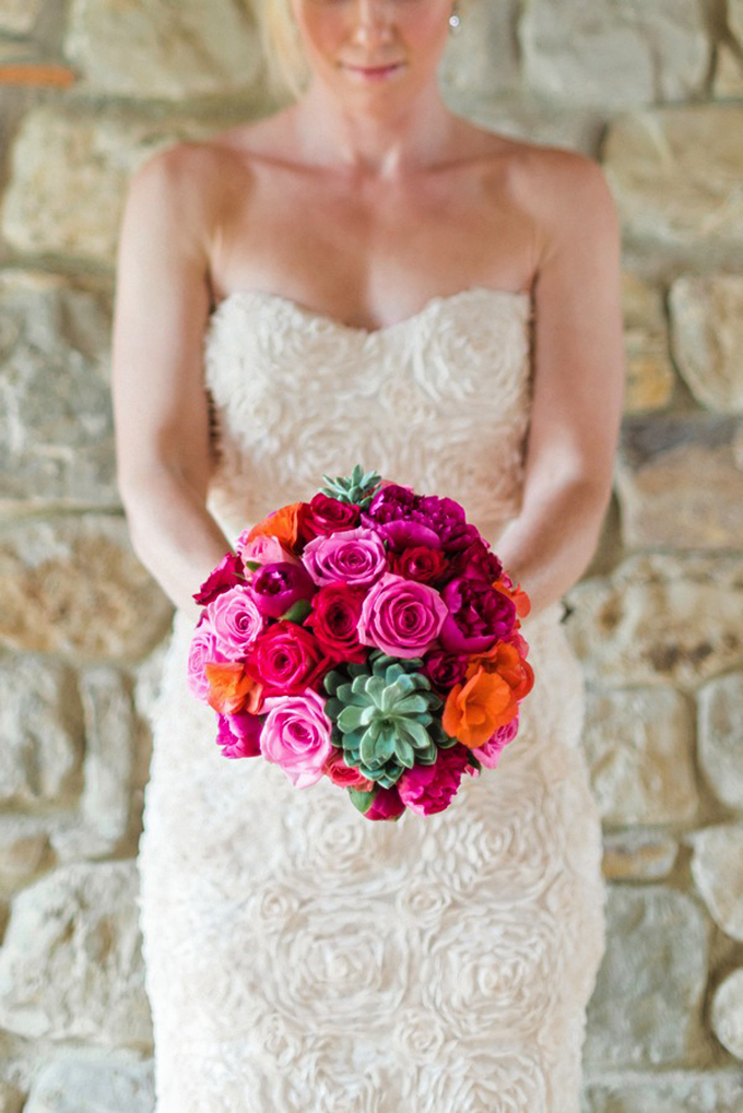 pink and succulent bouquet   Rochelle Cheever Photographer   Glamour & Grace